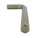 Ключ Г-образен UNIOR 12мм, шестостен, никелиран, закален, CrV - small, 40575
