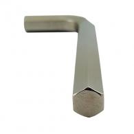 Ключ Г-образен UNIOR 4.0мм, шестостен, никелиран, закален, CrV