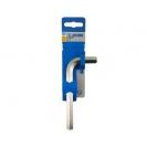 Ключ Г-образен UNIOR 4.0мм, шестостен, никелиран, закален, CrV - small, 40737