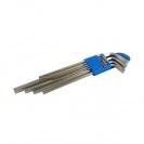 Ключ шестограм Г-образен удължен UNIOR 1.5-10мм 9части, CrV, закален, никелирани - small, 101014