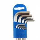 Ключ шестограм Г-образен удължен UNIOR 1.5-10мм 9части, CrV, закален, никелирани - small, 101015