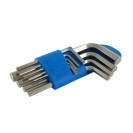 Ключ шестограм Г-образен UNIOR 1.5-10мм 9части, CrV, къси, закален, никелирани - small, 101017