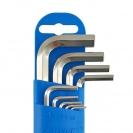 Ключ шестограм Г-образен UNIOR 1.5-10мм 9части, CrV, къси, закален, никелирани - small, 101018