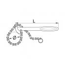 Ключ за маслен филтър UNIOR 60-140мм, с верига, 220мм-дължина, CrV - small, 35868