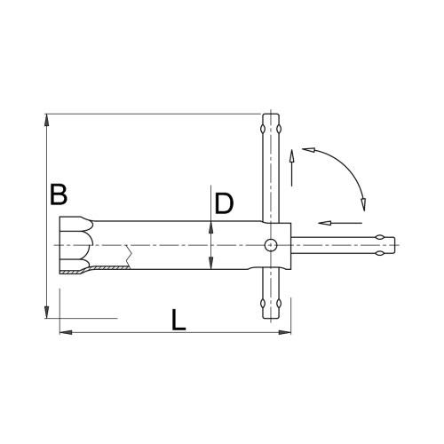 Ключ за свещи UNIOR 21/115мм, CS, хромиран - big, 102802