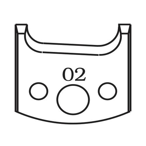 Нож профилен PILANA 02, 40x4мм, инструментална стомана