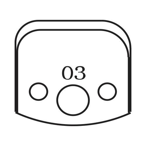 Нож профилен PILANA 03, 40x4мм, инструментална стомана
