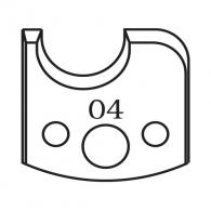 Нож профилен PILANA 04, 40x4мм, инструментална стомана