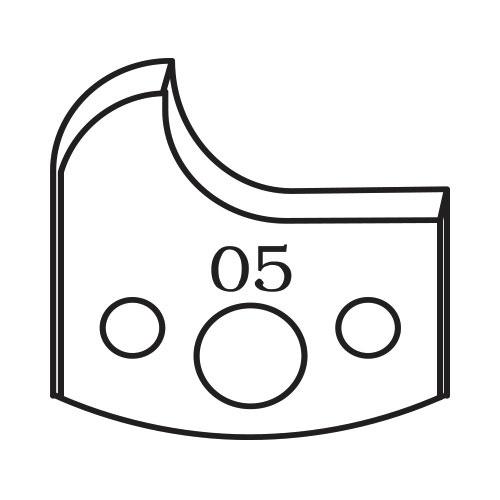 Нож профилен PILANA 05, 40x4мм, инструментална стомана