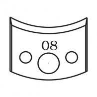 Нож профилен PILANA 08, 40x4мм, инструментална стомана