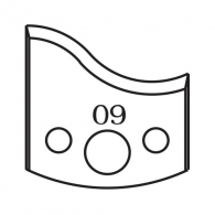 Нож профилен PILANA 09, 40x4мм, инструментална стомана