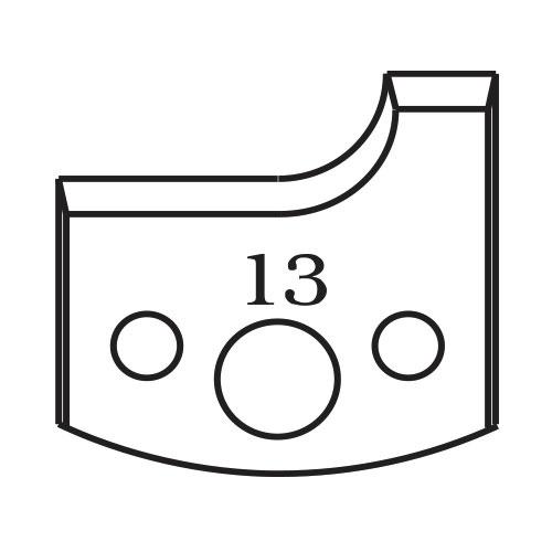Нож профилен PILANA 13, 40x4мм, инструментална стомана