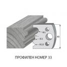 Нож профилен PILANA 33, 40x4мм, инструментална стомана - small, 16452