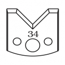 Нож профилен PILANA 34, 40x4мм, инструментална стомана - small