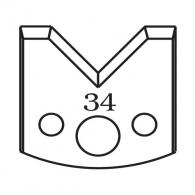 Нож профилен PILANA 34, 40x4мм, инструментална стомана