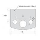 Нож профилен PILANA 34, 40x4мм, инструментална стомана - small, 16430
