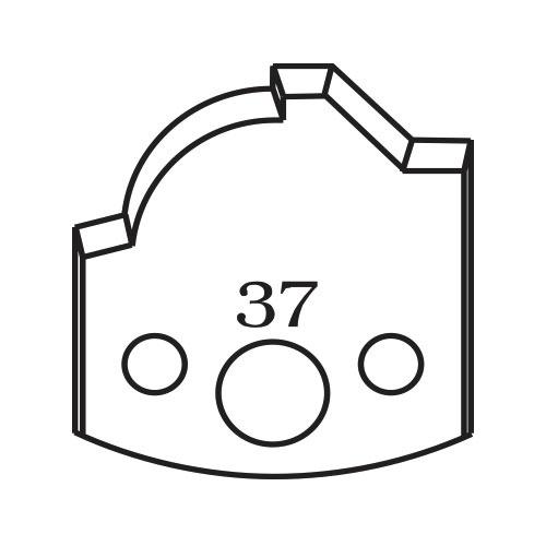Нож профилен PILANA 37, 40x4мм, инструментална стомана