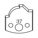 Нож профилен PILANA 37, 40x4мм, инструментална стомана - small