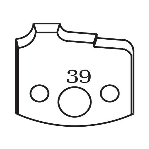 Нож профилен PILANA 39, 40x4мм, инструментална стомана