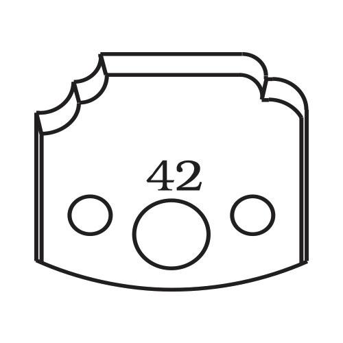 Нож профилен PILANA 42, 40x4мм, инструментална стомана
