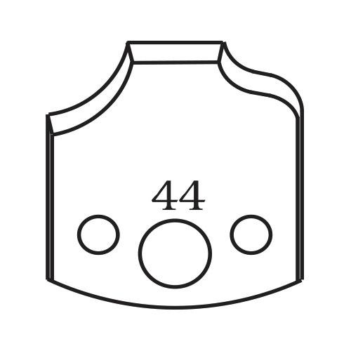 Нож профилен PILANA 44, 40x4мм, инструментална стомана