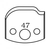 Нож профилен PILANA 47, 40x4мм, инструментална стомана