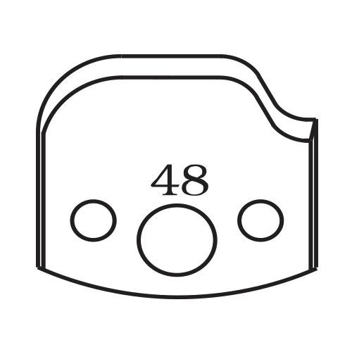 Нож профилен PILANA 48, 40x4мм, инструментална стомана
