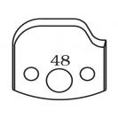 Нож профилен PILANA 48, 40x4мм, инструментална стомана - small