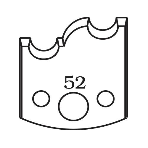 Нож профилен PILANA 52, 40x4мм, инструментална стомана