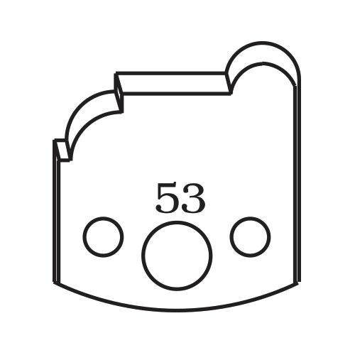 Нож профилен PILANA 53, 40x4мм, инструментална стомана