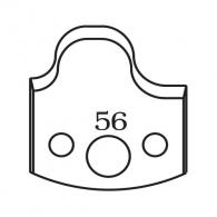 Нож профилен PILANA 56, 40x4мм, инструментална стомана