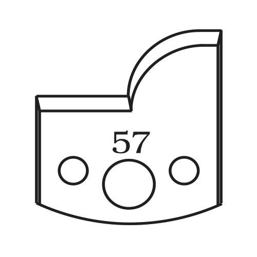 Нож профилен PILANA 57, 40x4мм, инструментална стомана