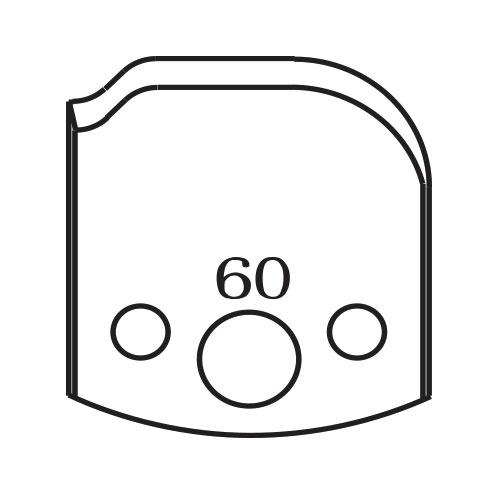 Нож профилен PILANA 60, 40x4мм, инструментална стомана