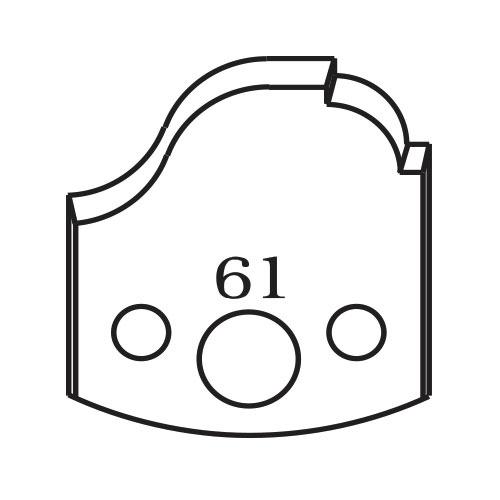 Нож профилен PILANA 61, 40x4мм, инструментална стомана