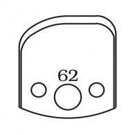 Нож профилен PILANA 62, 40x4мм, инструментална стомана