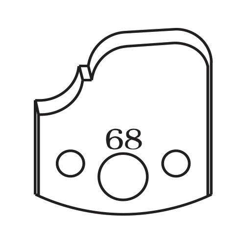 Нож профилен PILANA 68, 40x4мм, инструментална стомана
