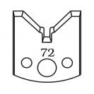 Нож профилен PILANA 72, 40x4мм, инструментална стомана - small