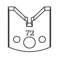 Нож профилен PILANA 72, 40x4мм, инструментална стомана