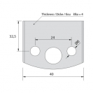 Нож профилен PILANA 75, 40x4мм, инструментална стомана - small, 17131
