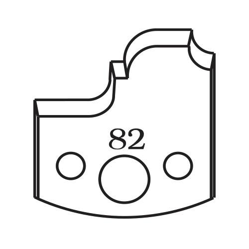 Нож профилен PILANA 82, 40x4мм, инструментална стомана