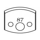 Нож профилен PILANA 87, 40x4мм, инструментална стомана - small