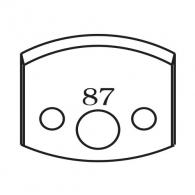 Нож профилен PILANA 87, 40x4мм, инструментална стомана