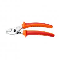 Ножица за кабели UNIOR 230мм, ф17мм, CS, закалени, хромирани, двукомпонентна дръжка, изолирани 1000V
