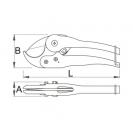 Ножица за PVC тръби UNIOR ф25мм, острие от молибденова легирана стомана, дръжки от алуминиева сплав - small, 15860