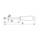Отвертка торкс UNIOR TX10 3.0х165/80мм, закалена, CrV-Mo, еднокомпонентна дръжка - small, 14452