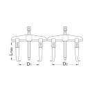 Скоба с два крака UNIOR 110-360мм, за лагери, плъзгащи, инструментална стомана - small, 16120
