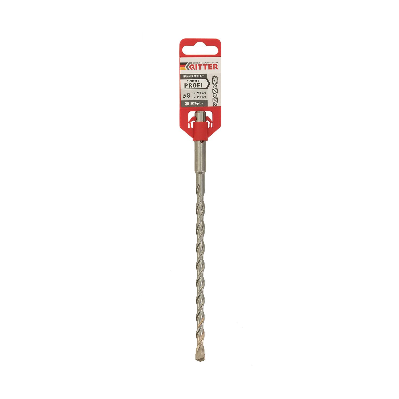 Свредло DREBO 4 PLUS 8x260/200мм, за бетон, HM, 2 режещи ръба, SDS-plus - big, 114119
