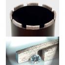 Боркорона с диамантени сегменти REMS UDKB 42x420мм, за стоманобетон и зидария, захват UNC 1 1/4'', мокро пробиване - small, 23504