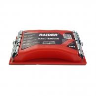 Шлайер ръчен RAIDER 160x85мм, пластмасов, с две метални щипки