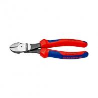 Клещи резачки KNIPEX ф1.5-3.1/140мм - усилени, CrV, двукомпонентнa дръжкa